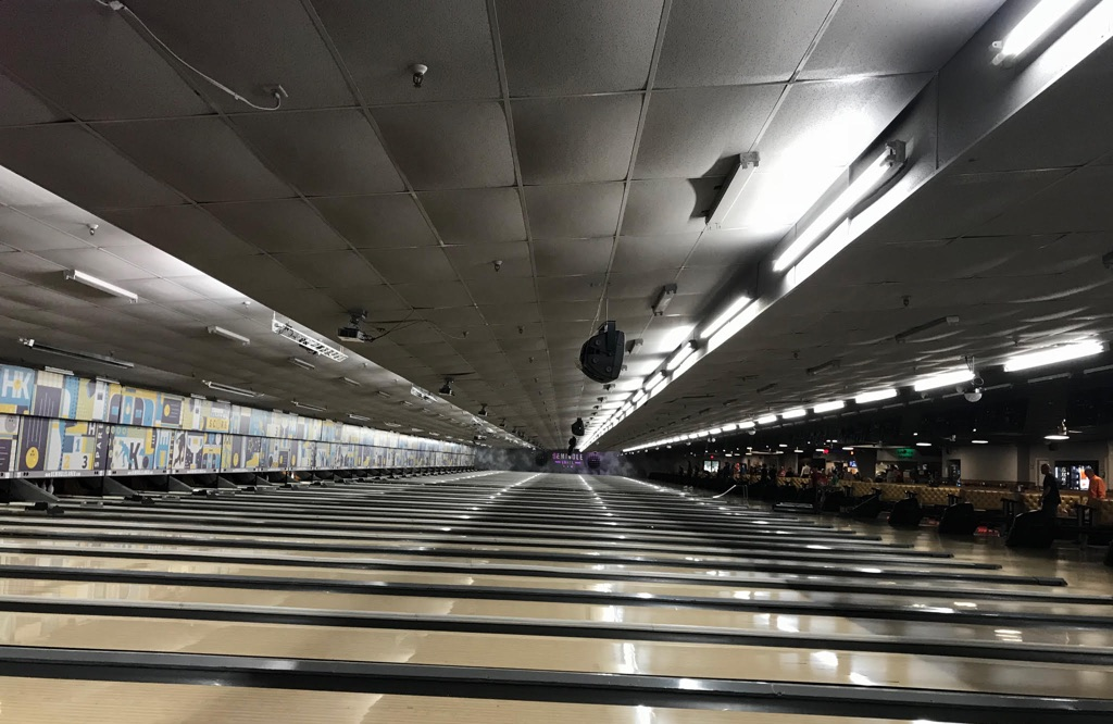 Bowling center ceiling project
