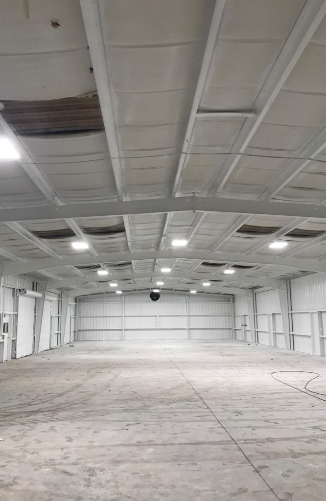 Industrial warehouse painting project